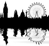 Skyline of London Royalty Free Stock Images