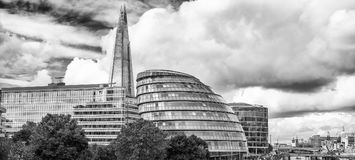 Skyline of London. Buildings along Thames River.  royalty free stock photos