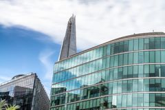 Skyline of London. Buildings along Thames River.  stock photography
