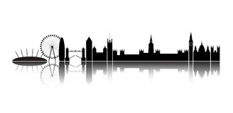 Skyline London city. Stock Photos