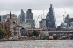Skyline London city with skyscrapers and cranes in the financial Stock Photo