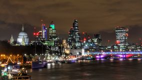 Skyline. London skyline at night Royalty Free Stock Image