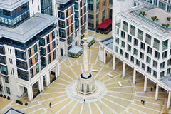 Skyline of London with Paternoster square Royalty Free Stock Photo