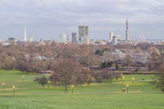 Skyline of London. From Primrose Hill Stock Photo