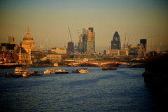 London City at dusk Stock Photography