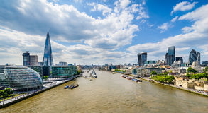 Skyline of London, UK. Skyline of London with the Thames River royalty free stock image