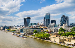 Skyline of London, UK Stock Photography