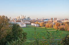 Skyline of London. View from Greenwich Hill. Stock Image