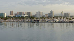 Skyline of Long Beach in Los Angeles County stock image