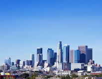 Skyline of Los Angeles On A Sunny Day Stock Images