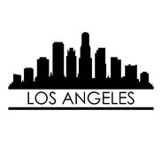 Skyline los angeles. On a white background Royalty Free Stock Photos