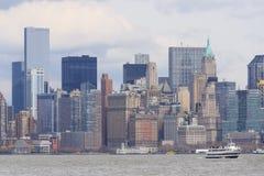 Skyline of lower Manhattan of New York. City Stock Photography