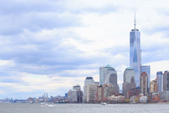 Skyline of lower Manhattan of New York. City Royalty Free Stock Images