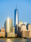 The skyline of Lower Manhattan in New York Royalty Free Stock Photo