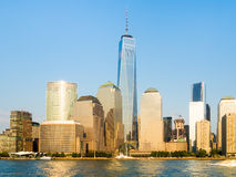 The skyline of Lower Manhattan in New York Royalty Free Stock Images
