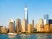 The skyline of Lower Manhattan in New York Stock Photo
