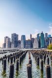 Skyline of Lower Manhattan, NYC Royalty Free Stock Photography