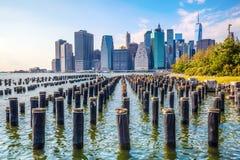 Skyline of Lower Manhattan, NYC Stock Photos