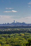 Skyline of Lower Manhattan on a sunny day Royalty Free Stock Image