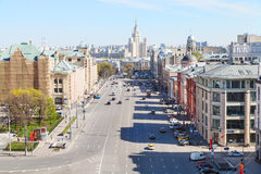 Skyline with Lubyanka Square in Moscow Royalty Free Stock Photos