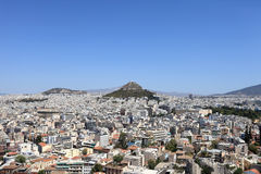 Skyline of Lycabettus hill Stock Photos