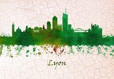 Skyline Lyons Frankreich stock abbildung