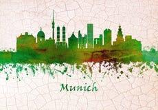 Skyline Münchens Deutschland lizenzfreie abbildung