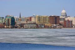 Skyline of Madison Wisconsin Royalty Free Stock Photos
