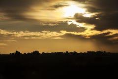 Skyline Madrid II lizenzfreie stockfotos