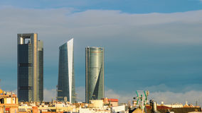 Skyline of Madrid, Spain Royalty Free Stock Photo