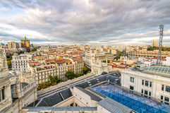 Skyline of Madrid from the Town Hall Stock Images