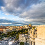 Skyline of Madrid from the Town Hall Royalty Free Stock Images