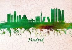 Skyline Madrids Spanien vektor abbildung
