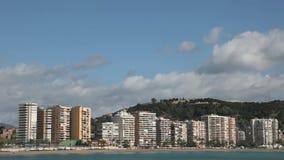 Skyline of Malaga, Spain stock video footage