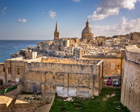 Skyline of the Maltese Capital city Valletta Stock Image
