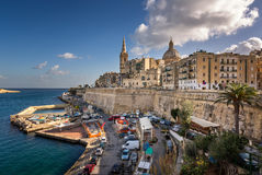 Skyline of the Maltese Capital city Valletta Royalty Free Stock Image