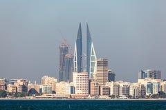 Skyline of Manama City, Bahrain Royalty Free Stock Images