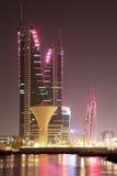 Skyline of Manama at night. Bahrain Stock Photography