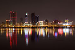 Skyline of Manama at night Stock Photography