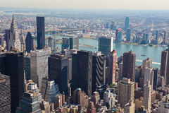 Skyline of Manhattan Stock Image
