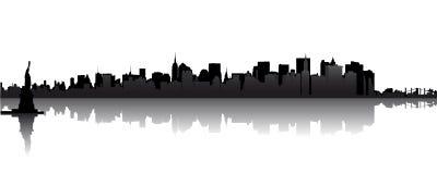 Skyline of Manhattan Stock Photo