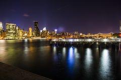 Skyline. Of Manhattan from Long Island City Pier Stock Image