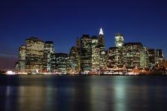 Skyline Manhattan. Skyline of Manhatten, New York in the evening Stock Image