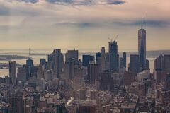Skyline of Manhattan, New York Royalty Free Stock Photography