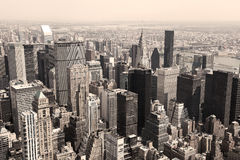Skyline of Manhattan Stock Photos