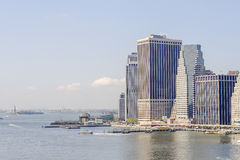 Skyline Manhattan and statue of liberty royalty free stock image