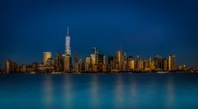 Skyline Manhattans, New York lizenzfreies stockbild