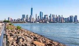 Skyline Manhattans, New York stockfotos