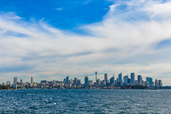 Skyline from the Manly Ferry in Sydney, Australia Stock Photo