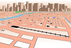Skyline map Stock Image